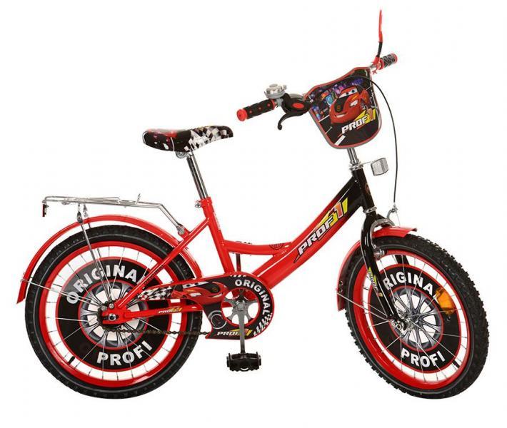 Велосипед детский PROF1 мульт 20д. PO2042 (1шт) Original,красно-черный,зеркало,звонок,