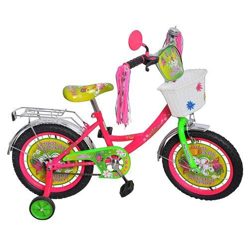 "Велосипед детский мульт 18"" P1851F-B (1шт) Бабочка, кисточки на руле"
