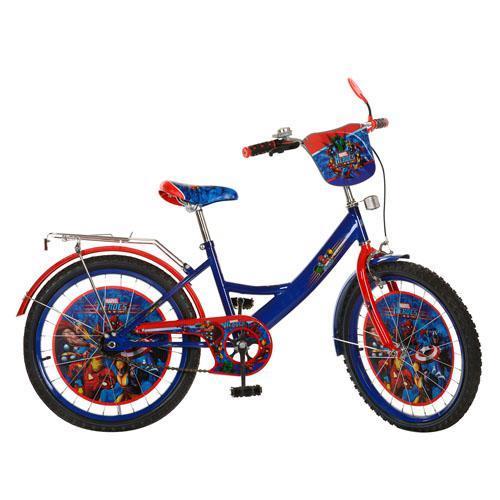 Велосипед детский мульт 20д. MH202 (1шт) МГ,сине-красный,зеркало,звонок,в кор-ке, 81-50-16см