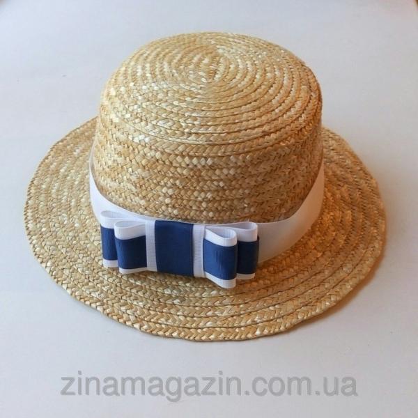 Шляпа канотье с бантиком
