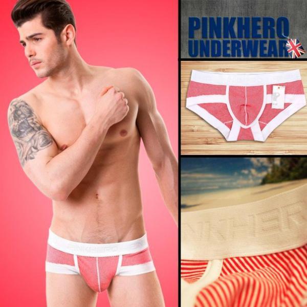 Трусы Pink Hero брифы в красную полоску