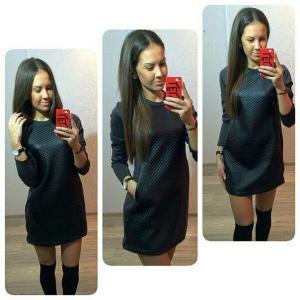 Фото Платья, туники (розница) Платье комбинированное  GF