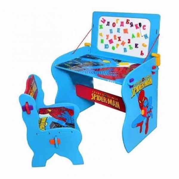 Парта M 0436 (1шт) СП, со стульчиком, сине-красная, 63-60,5-115см