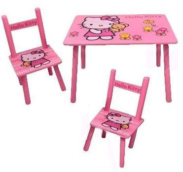 Столик M 0293 (5шт) Китти, деревянный, 2 стульчика, в кор-ке, 60-40см