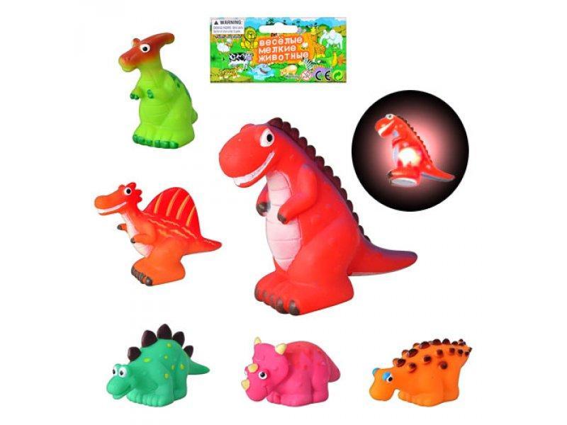 Динозавры FP 1201-6 (432шт) 6 шт, свет, в кор-ке, 16,5-12см