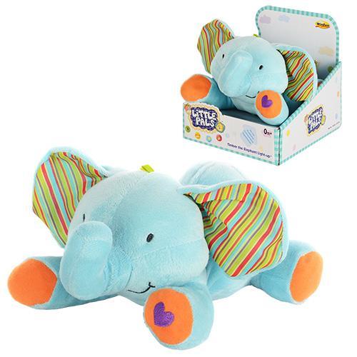 Животное 0231-NL (6шт) слоник,24-19-12см,муз,свет,ножки-антистр,плюш,на бат-ке,в кор-ке,17-18,5-21см