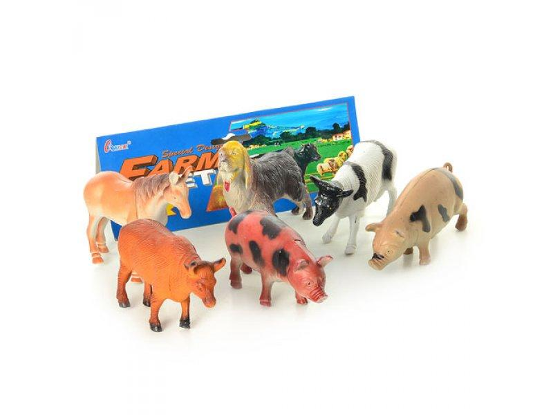 Животные H 636 (72шт) домашние, в кульке, 23-34см