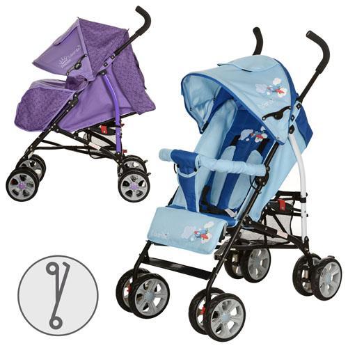 Коляска детская M 2104-1 (2шт)прогулочная,глубокая крыша,чехол,2цвета(голуб,фиолет),колеса 8шт(7д),