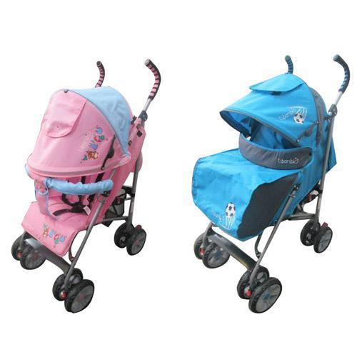 Коляска детская M 2106-1 (2шт)прогулочная,глуб.крыша,чехол,2цвета(роз-голуб,голуб-серый),колеса 8шт