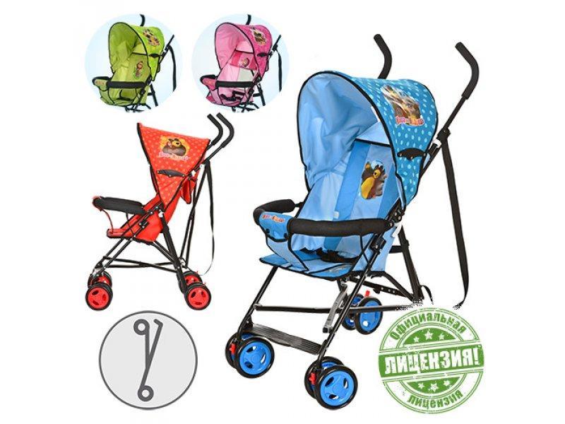 Коляска детская MM 0067-1 (4шт) ММ,прогул,глуб.крыша,колеса8шт(13,5см),4цв(роз,салат,красн,голуб),