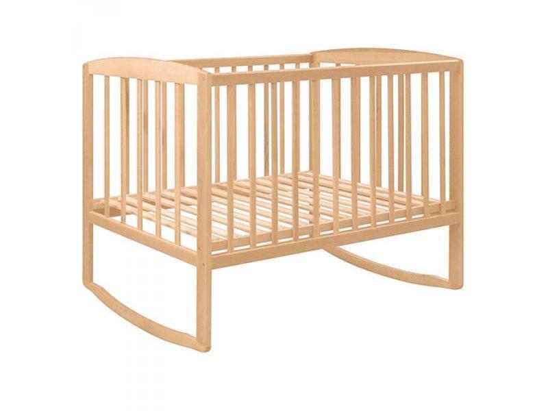 Кровать для детей 0021 (1шт) деревянная (бук), дуги, 124-65,5-85см