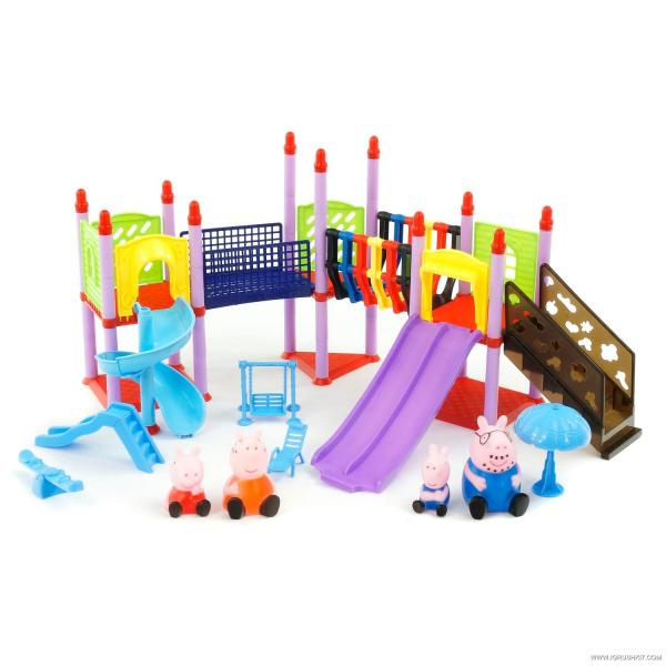 Набор фигурок PP6041ABC (24шт) PP, 4шт(пищалки), детская площадка, 3вида, в кор-ке, 36-22-7см