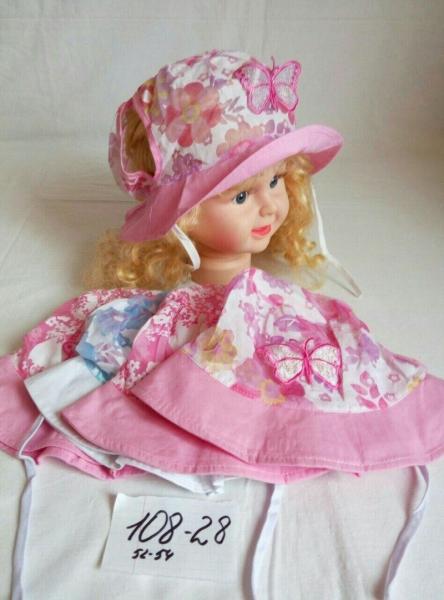 Детская панамка для девочки р 52-54
