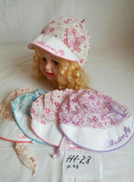 Детская панамка для девочки Butterfly р 48