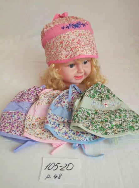 Детская косынка для девочки Лужайка р 48
