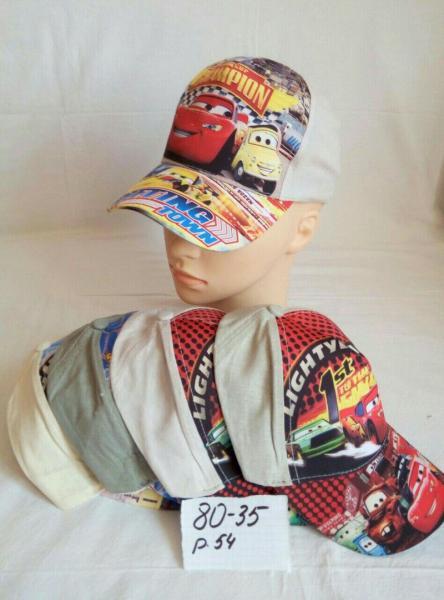 Детская кепка тачки р 54