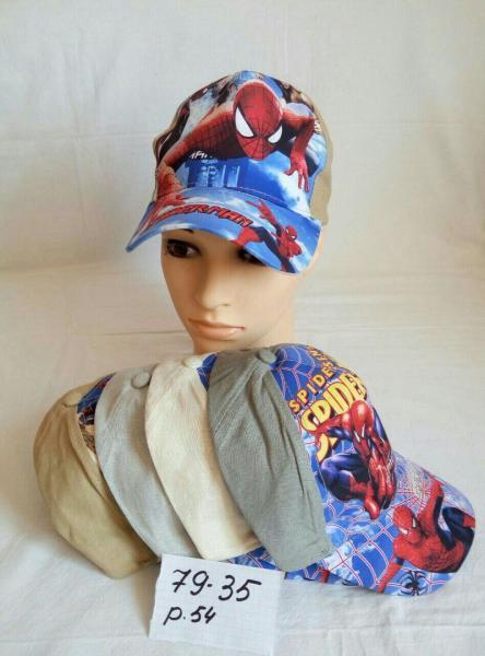 Детская кепка человек паук р 54