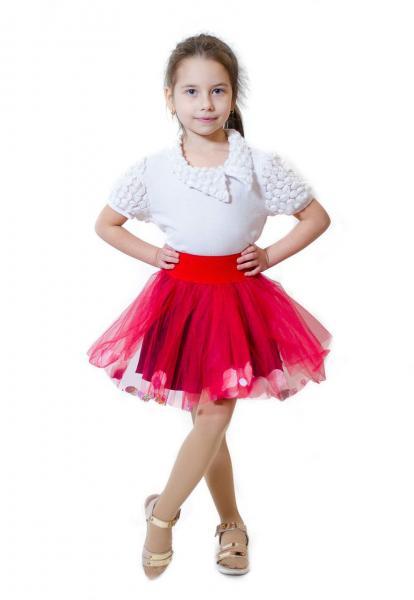 Детская юбка с фатина р.92-110