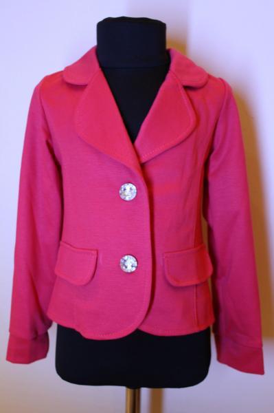 Пиджак детский для девочки розовый