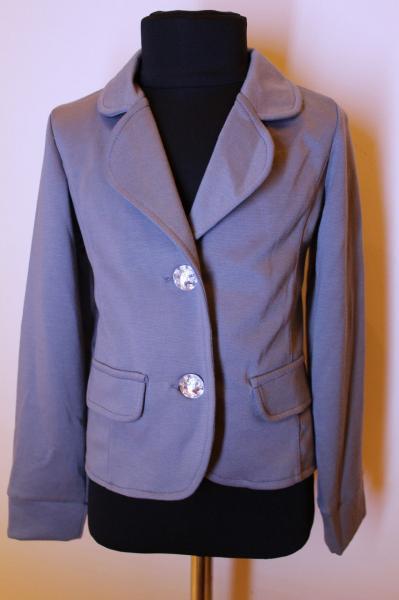 Пиджак детский для девочки серый