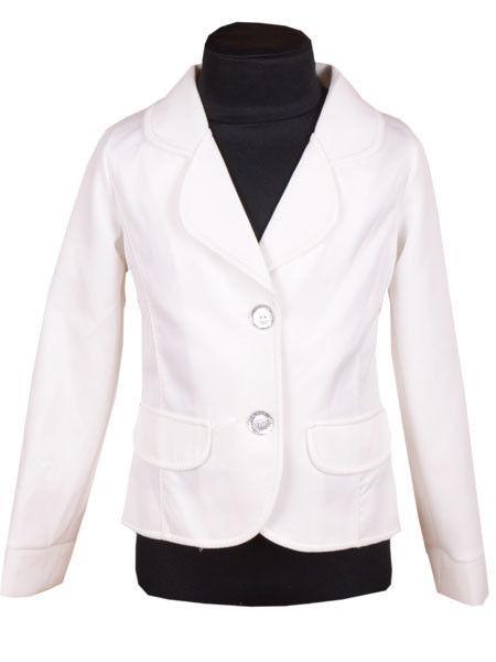 Пиджак школьный молочный р. 116-140