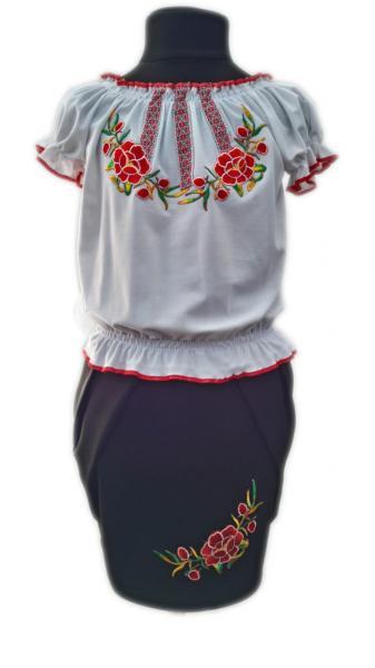 Блузка-вышиванка и юбка комплект р 116-134