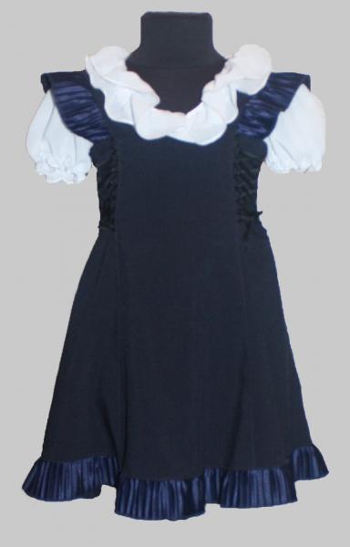 """Детский сарафан темно-синий """"Белла"""" р 116-134"""