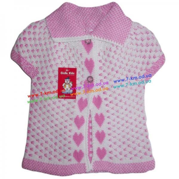 Безрукавка для девочек Vit5102 акрил 3 шт (1-5 лет)