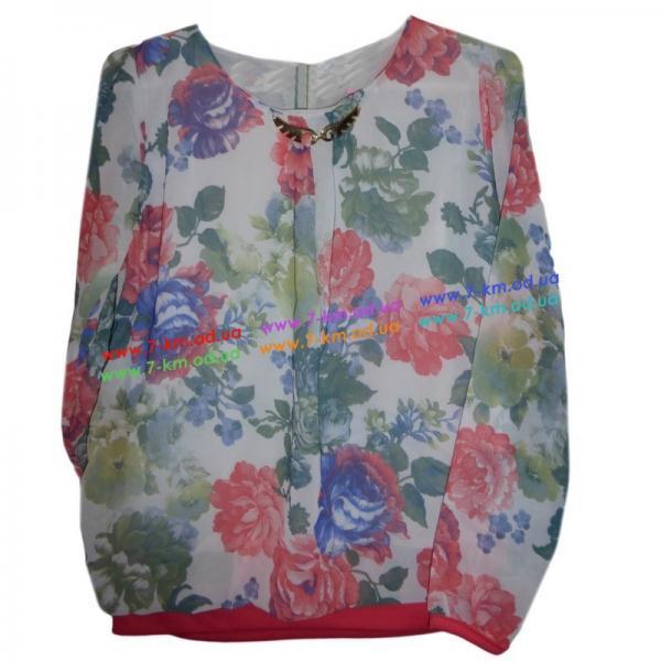 Блузка для девочек Rom5085 шифон 4 шт (9-12 лет)