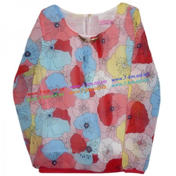 Блузка для девочек Rom5085.2 шифон (9-12 лет)