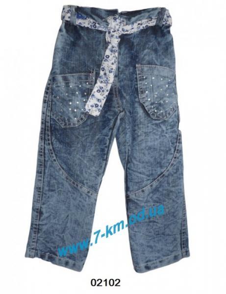 Брюки для девочек Vit02102 джинс 4 шт (4-7 лет)