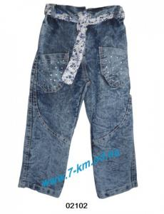 Фото Одежда для Девочек, Джинс - Лето Брюки для девочек Vit02102 джинс 4 шт (4-7 лет)
