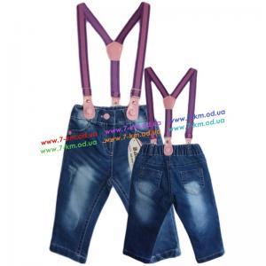 Фото Одежда для Девочек, Джинс - Лето Брюки для девочек Vit580a джинс 4 шт (6-24 мес)