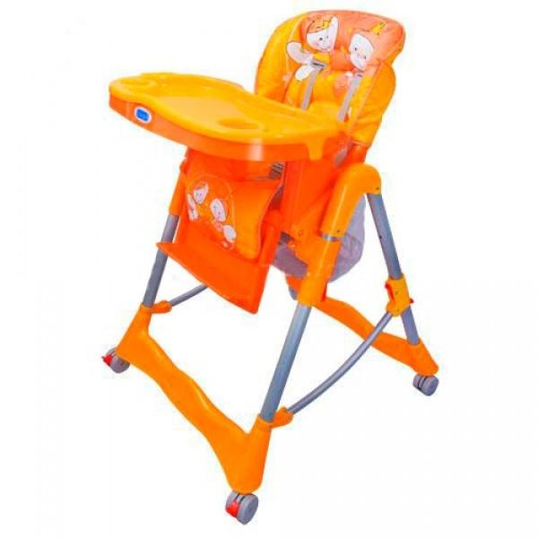 Стульчик RT-002-7-5 (1шт) для кормления,корзина,колеса,оранж-зеленый,105-71-61см,в кор-ке,70-47-29см