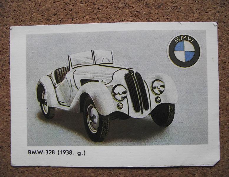 Календарик 1987г. «BMW-328» (1938г.)