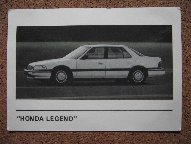 Календарик 1990г. «HONDA LEGEND»