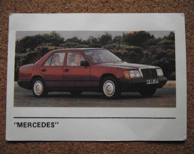 Календарик 1990г. «MERCEDES»
