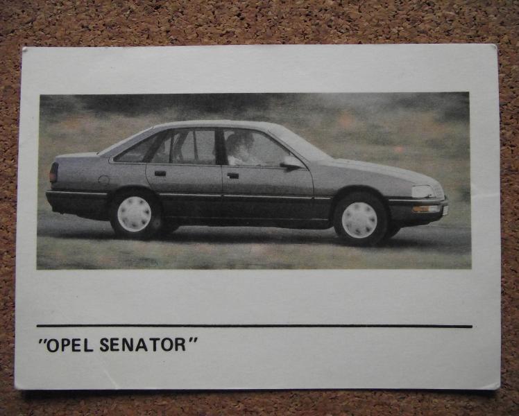 Календарик 1990г. «OPEL SENATOR»