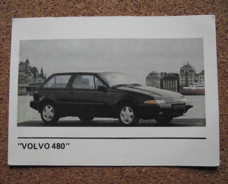 Календарик 1990г. «VOLVO  480»