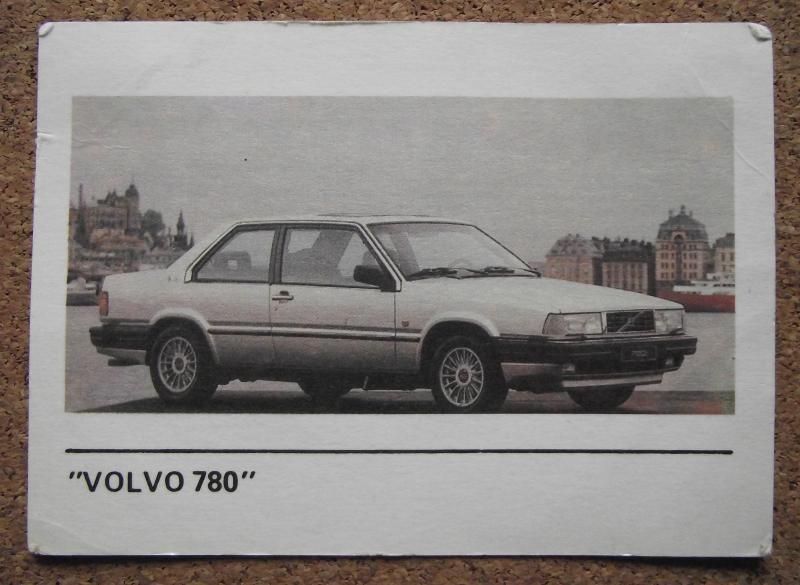 Календарик 1990г. «VOLVO  780»