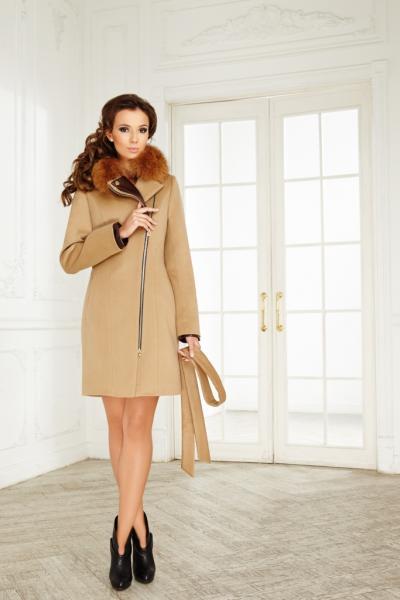 Пальто Модель 020 (отд. кожа) Молния.
