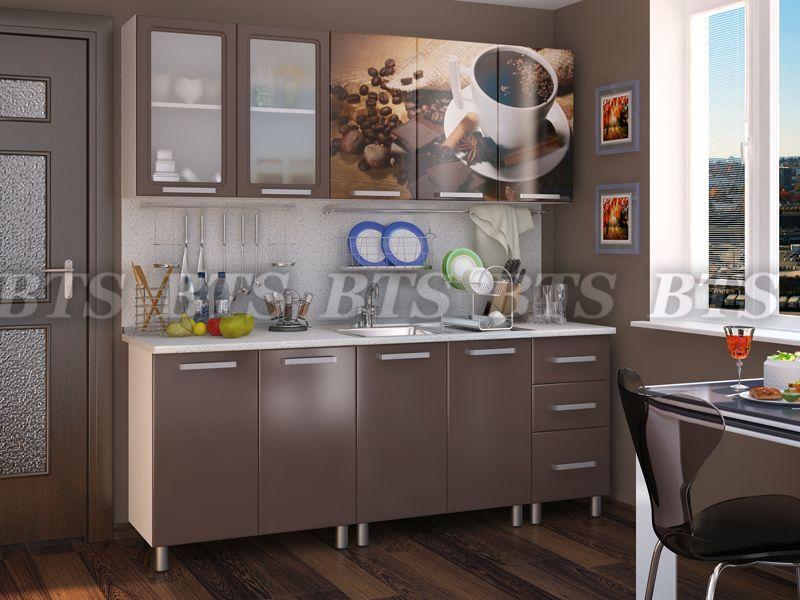 Кухня Люкс Шоколад(цвет:коньячный бриллиант) 2,0м(BTS МЕБЕЛЬ)