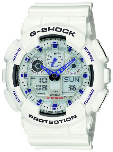 Часы G-shock GA-100A, белые Хит!