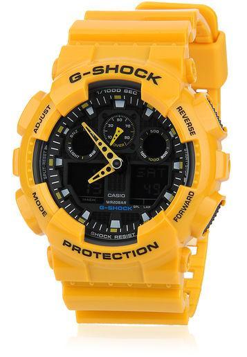 Часы G-shock GA-100B (желтые) Хит!