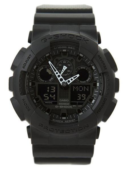 Часы G-shock GA-100, черные Хит!