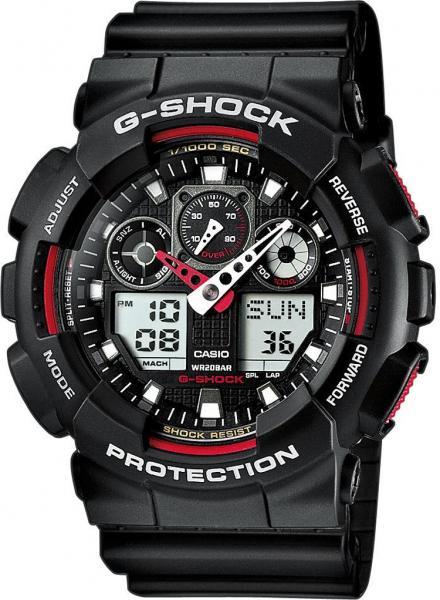 Часы G-shock GA-100, черно-красные Хит!