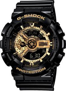 Фото Casio (G-shock) Часы G-shock 110RG, черные с золотом Хит!