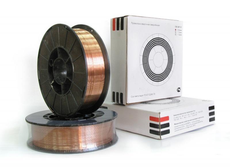 Сварочная проволока  СВ-08Г2С d.0,8мм 5 кг D200