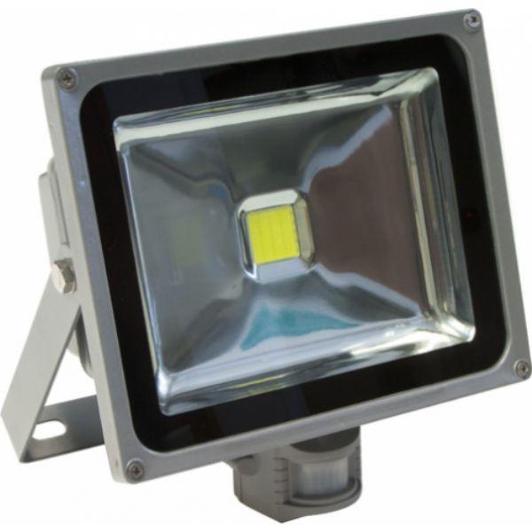 Прожектор светодиодный с датчиком движения и освещенности 50 Вт