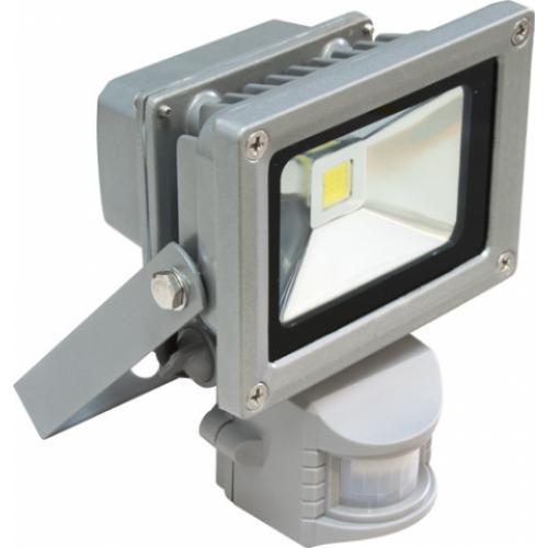 Прожектор светодиодный с датчиком движения и освещенности 10 Вт